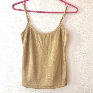 The Limited gold tank top
